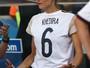 Lena Gercke, namorada de Sami Khedira, da Alemanha, torce pelo amado no Maracanã