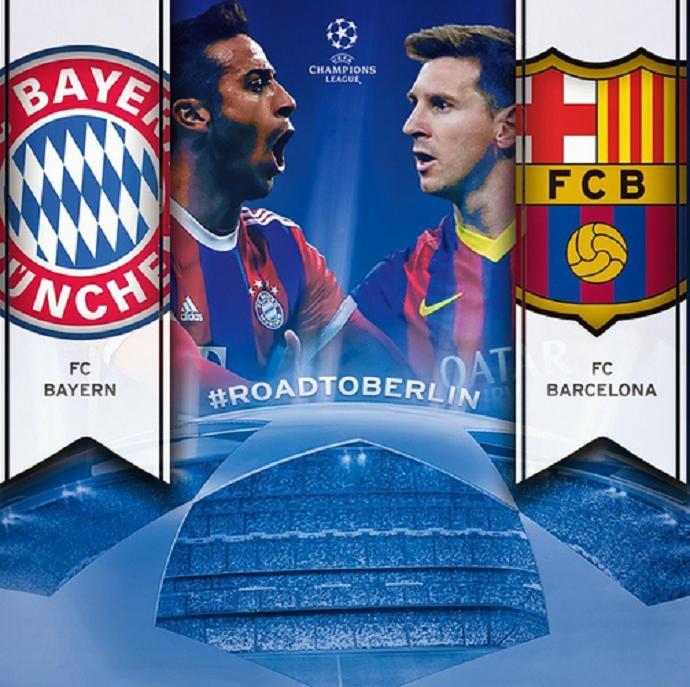 Bayern x Barcelona - Liga dos Campeões (Foto: Reprodução)