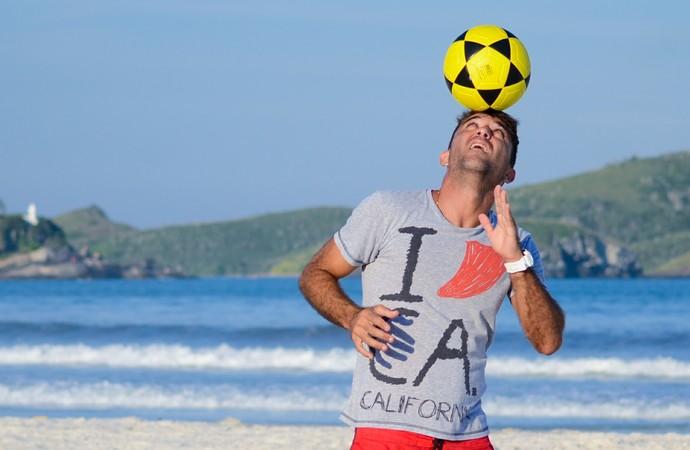 Henrique Pádua vai jogar beach soccer na Itália (Foto: Léo Borges/NaJogada)