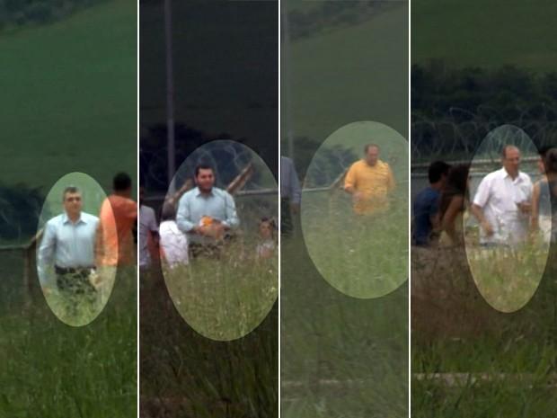 Ex-vice-prefeito, presidente da câmara e outros dois investigados são liberados de penitenciária em Três Corações (Foto: Lucas Magalhães/Reprodução EPTV)