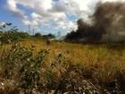 Incêndio atinge pátio de veículos da Polícia Rodoviária Federal, no Recife
