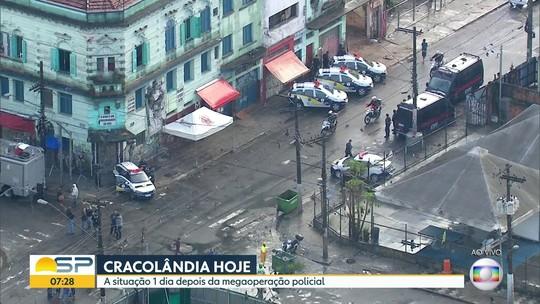 Usuários de drogas se dispersam pelo Centro após ação policial na Cracolândia