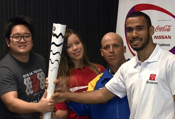 Ao todo, 65 pessoas vão participar do revezamento da tocha olímpica em Londrina (Foto: Reprodução/RPC)