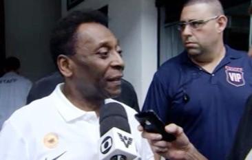 Pelé, Vila Belmiro (Foto: Reprodução / TV Tribuna)