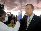 Ban Ki-moon chega à Libéria em giro por países afetados por ebola