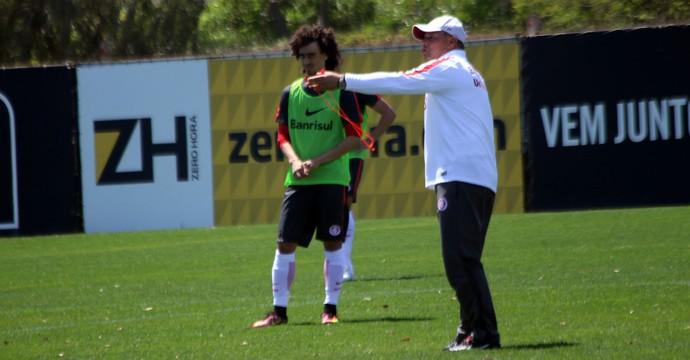Valdívia Celso Roth treino do Inter (Foto: Tomás Hammes/GloboEsporte.com)