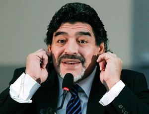 Diego Maradona coletiva Itália (Foto: Reuters)