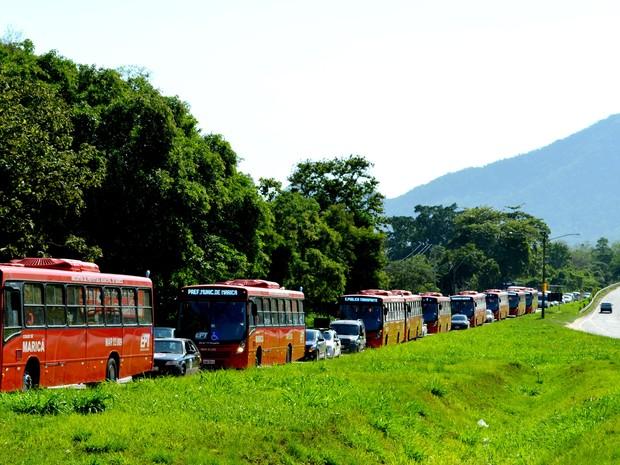 Dez veículos compõem a frota com tarifa zero (Foto: Fernando Silva / Divulgação Prefeitura de Maricá)