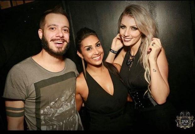 Max Porto, Amanda Djehdian e Ariane Cerqueira (Foto: Instagram/Reprodução)