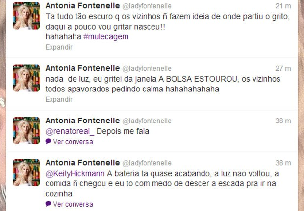 Antonia Fontenelle divide brincadeira com fãs (Foto: Reprodução  / Twitter)