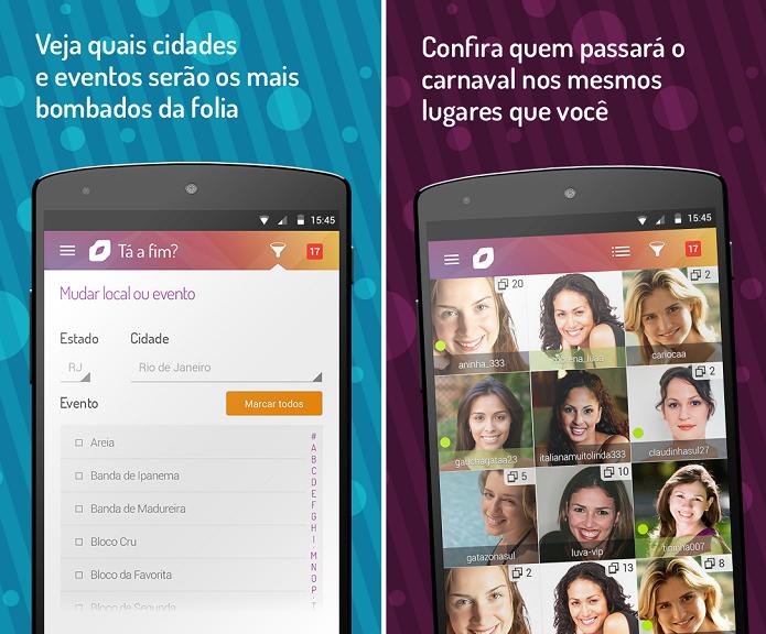 Beija Eu Chat do Carnaval 2015 é um app de encontros para o carnaval (Foto: Divulgação)