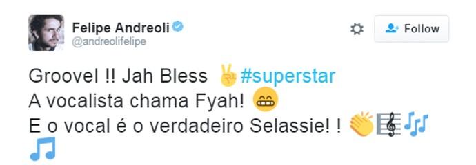 felipe andreoli tweet superstar (Foto: Reprodução/Internet)