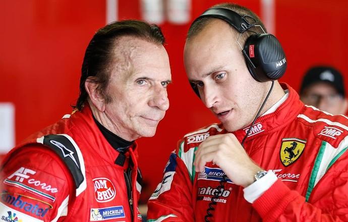 Emerson Fittipaldi Jeff Segal Ferrari 6 horas de São Paulo (Foto: Divulgação)