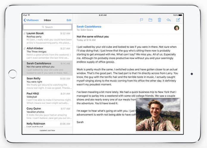 Veja vídeos em PIP no iOS 9 para iPad (Foto: Reprodução/Apple)