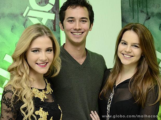 Hannah Romanazzi, Gabriel Falcão e Bianca Salgueiro na coletiva de imprensa (Foto: Estevam Avellar / TV Globo)