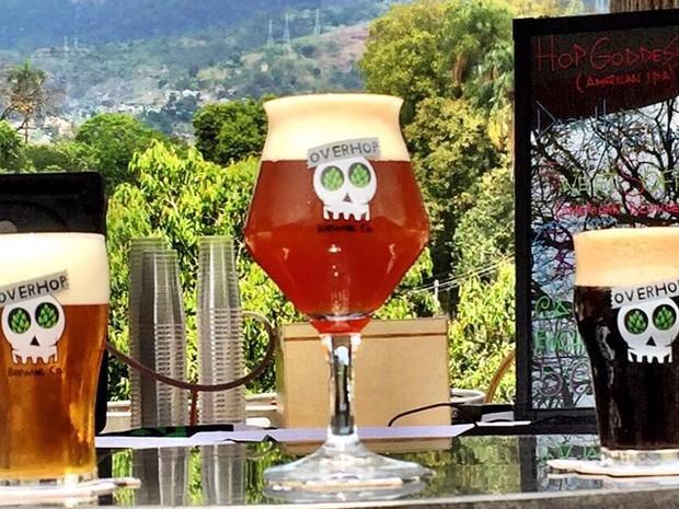 Três das cinco cervejas que a Overhop levará para o Pier Mauá (Foto: Divulgação/Rodrigo Baruffaldi)