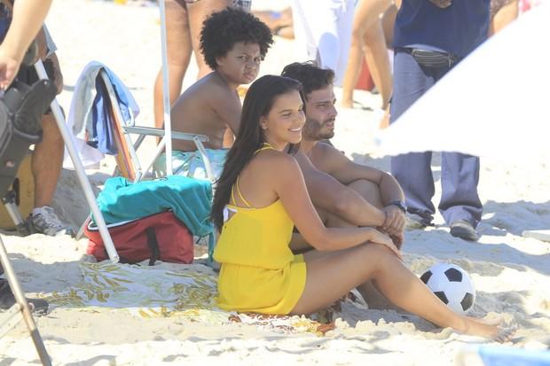 Mariana Rios e Thiago Rodrigues em gravação de Além do Horizonte (Foto: Delson Silva / AgNews)