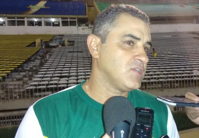 Marcelo Chamusca é o treinador do Sampaio e fala no Albertão (PI) (Foto: Afonso Diniz/GloboEsporte.com)