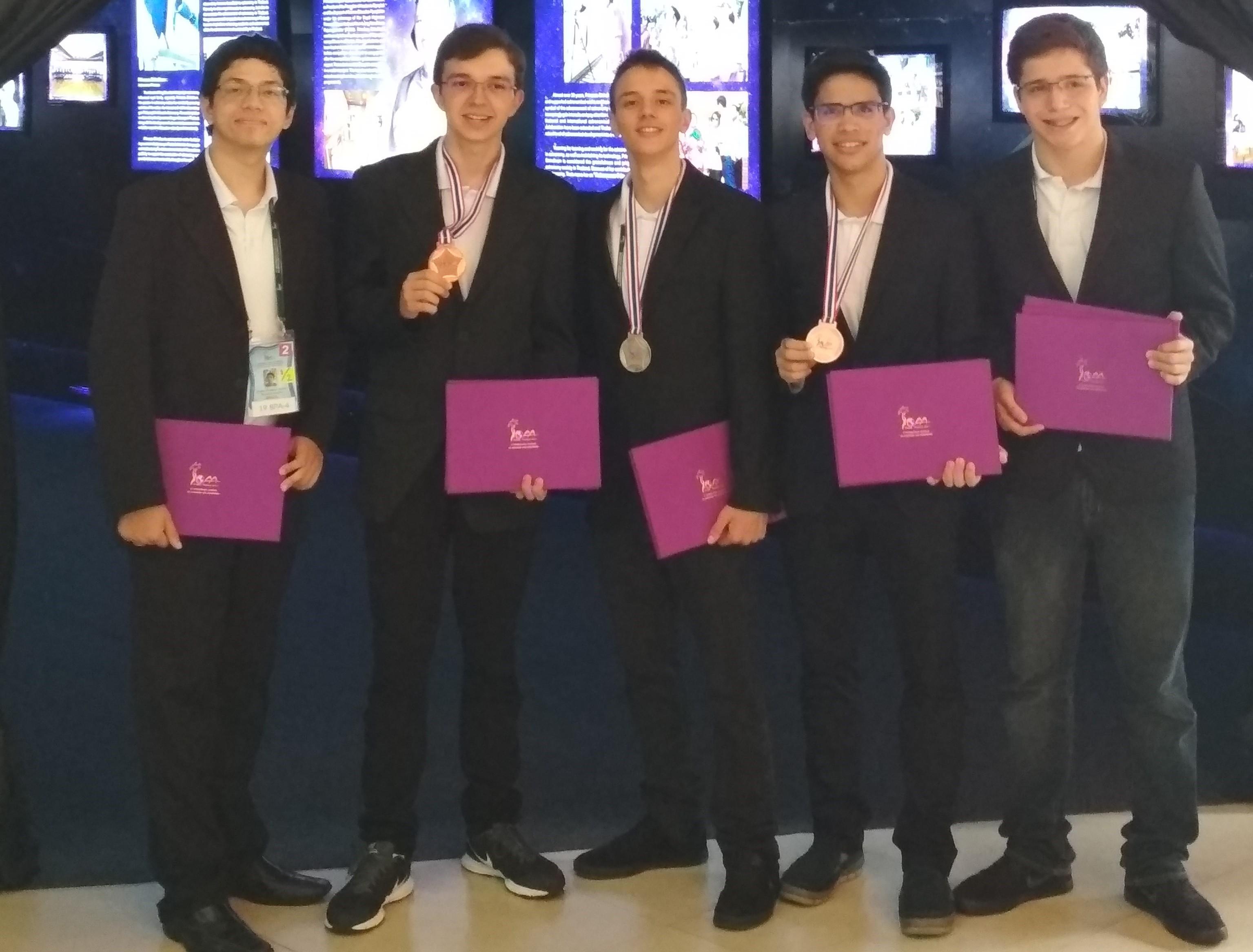 Equipe brasileira participante da OIAA 2017 (Foto: Arquivo pessoal)