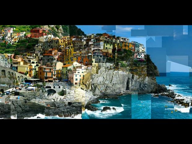 """""""Manarola"""", na costa da Itália, Fotofragmento de 2011 (Foto: Divulgação / Marcello Cavalcanti)"""