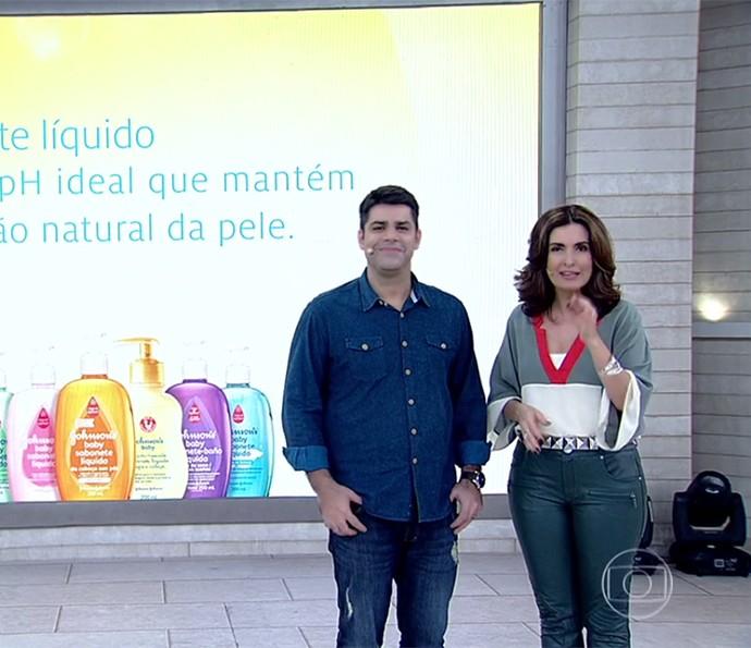 Encontro: confira as dicas para o banho do bebê (Foto: TV Globo)