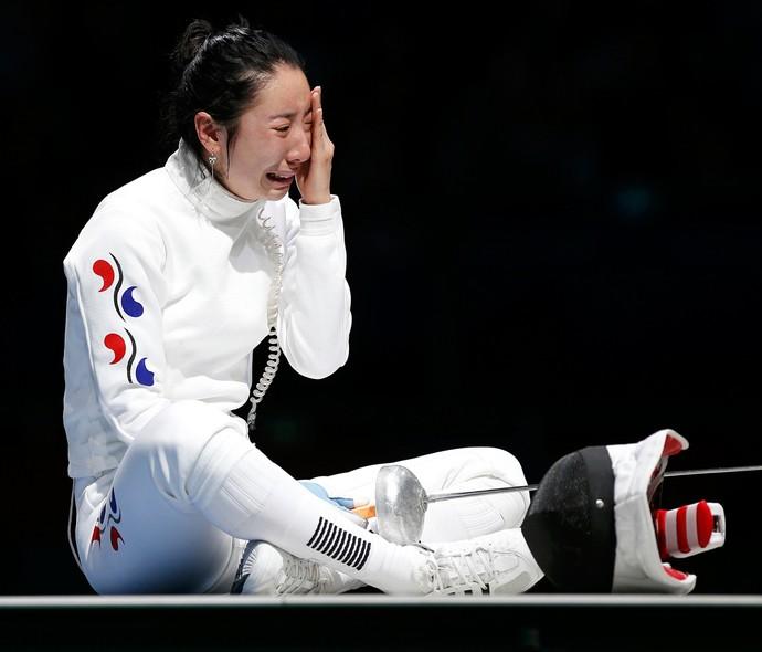 shin Lam corei do sul esgrima londres 2012 olimpiadas (Foto: Reuters)
