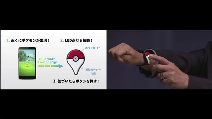 Com o gadget Pokémon Go Plus, será possível jogar com o celular no bolso