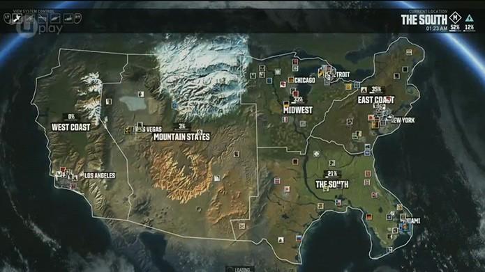 Mapa The Crew 2.The Crew Pc