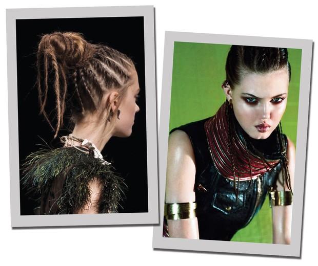 Trança embutida (Foto: Getty Images e Vogue Ucrânia)