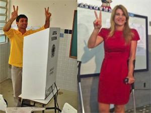 Romero Rodrigues e Tatiana Medeiros disputam o segundo turno (Foto: Montagem/G1)