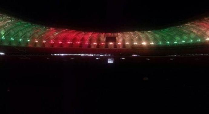 Beira-Rio é iluminado nas cores do Rio Grande do Sul (Foto: Divulgação/Inter)