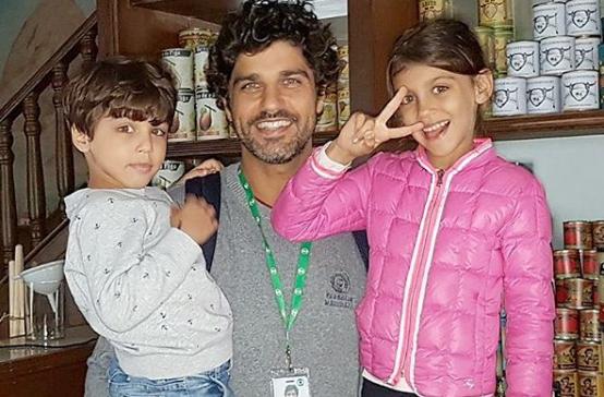 Bruno Cabrerizo com os filhos (Foto: Reprodução Instagram)