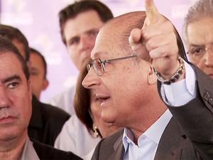 Governador de São Paulo, Geraldo Alckmin, em Campinas (Foto: Reprodução/ EPTV)