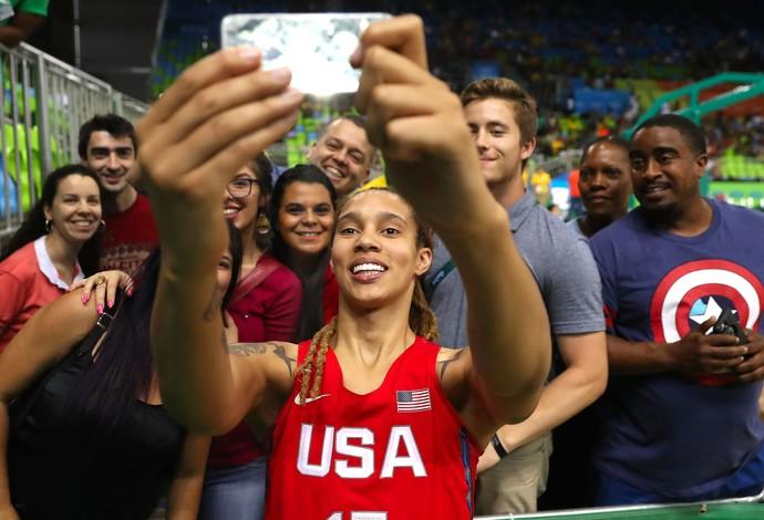 GALERIA SELFIE - Basquete Brittney Griner olimpíadas (Foto: Agência Getty Images)