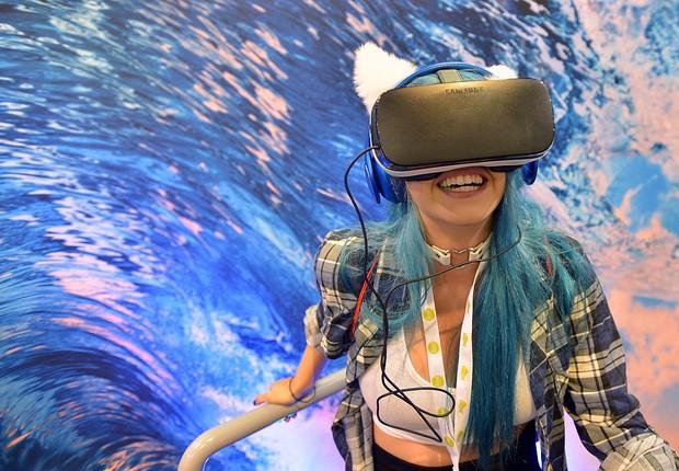 Óculos de realidade virtual da Samsung (Foto: Charley Gallay/Getty Images)