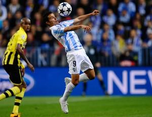 Saviola, Málaga x Borussia Dortmund (Foto: AP)