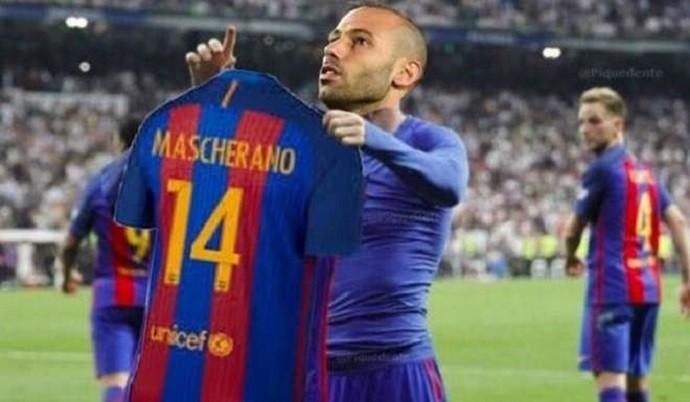 """BLOG: Depois de gols contra Osasuna, Gomes e Mascherano viram """"memes"""" na Espanha"""