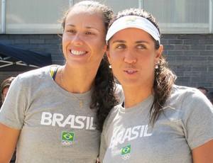 Talita e Maria Elisa treinam no Crystal Palace (Foto: Lydia Gismondi / Globoesporte.com)