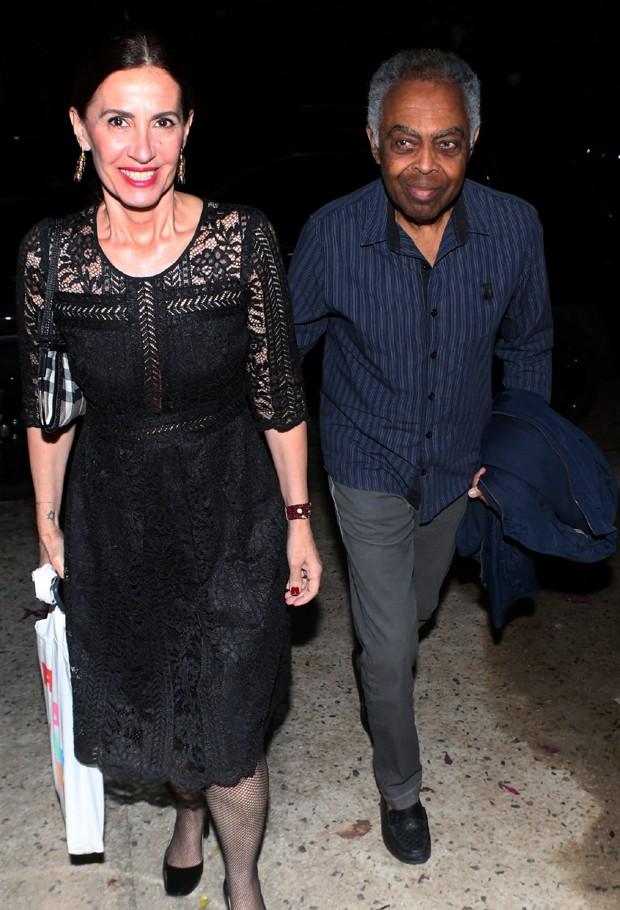 Flora e Gilberto Gil (Foto: Dilson Silva/AgNews)