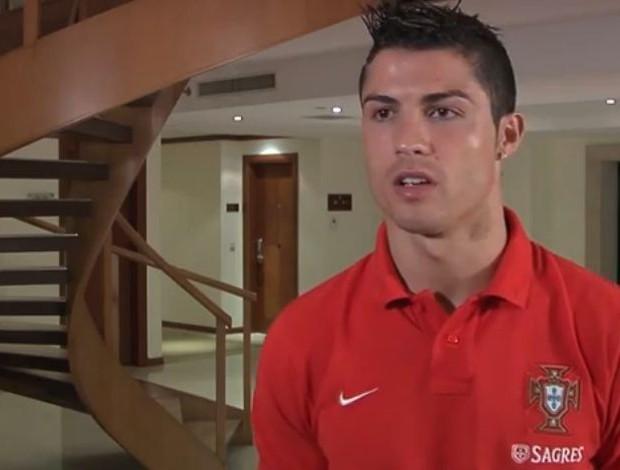 Cristiano Ronaldo com a seleção de Portugal (Foto: Reprodução)