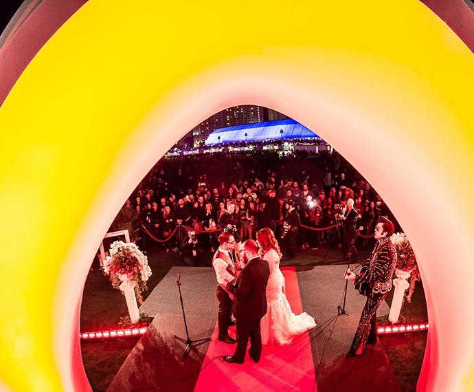 Nos quatro dias de Rock in Rio Las Vegas foram 20 casamentos realizados! (Foto: Divulgação)