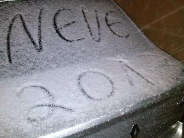Temperatura na cidade chegou a 0°C, segundo o Simepar (Foto: Eduardo Andrade/RPC TV)