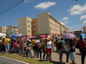Ao menos 1,4 mil imóveis foram entregues no conjunto (Foto: Dyepeson Martins/G1)