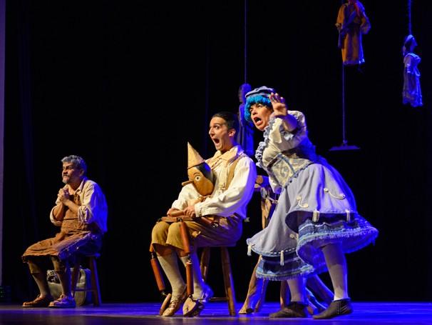 O espetáculo 'As Aventuras de Pinóquio' abre a I Mostra de Teatro Infantil para toda a Família (Foto: Globo)