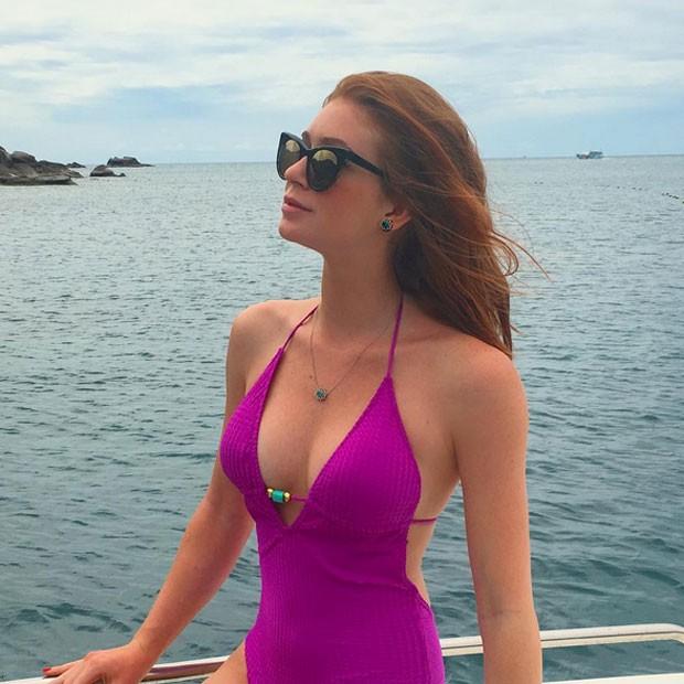Marina Ruy Barbosa em passeio de barco em Koh Samui, ilha da Tailândia (Foto: Instagram/ Reprodução)