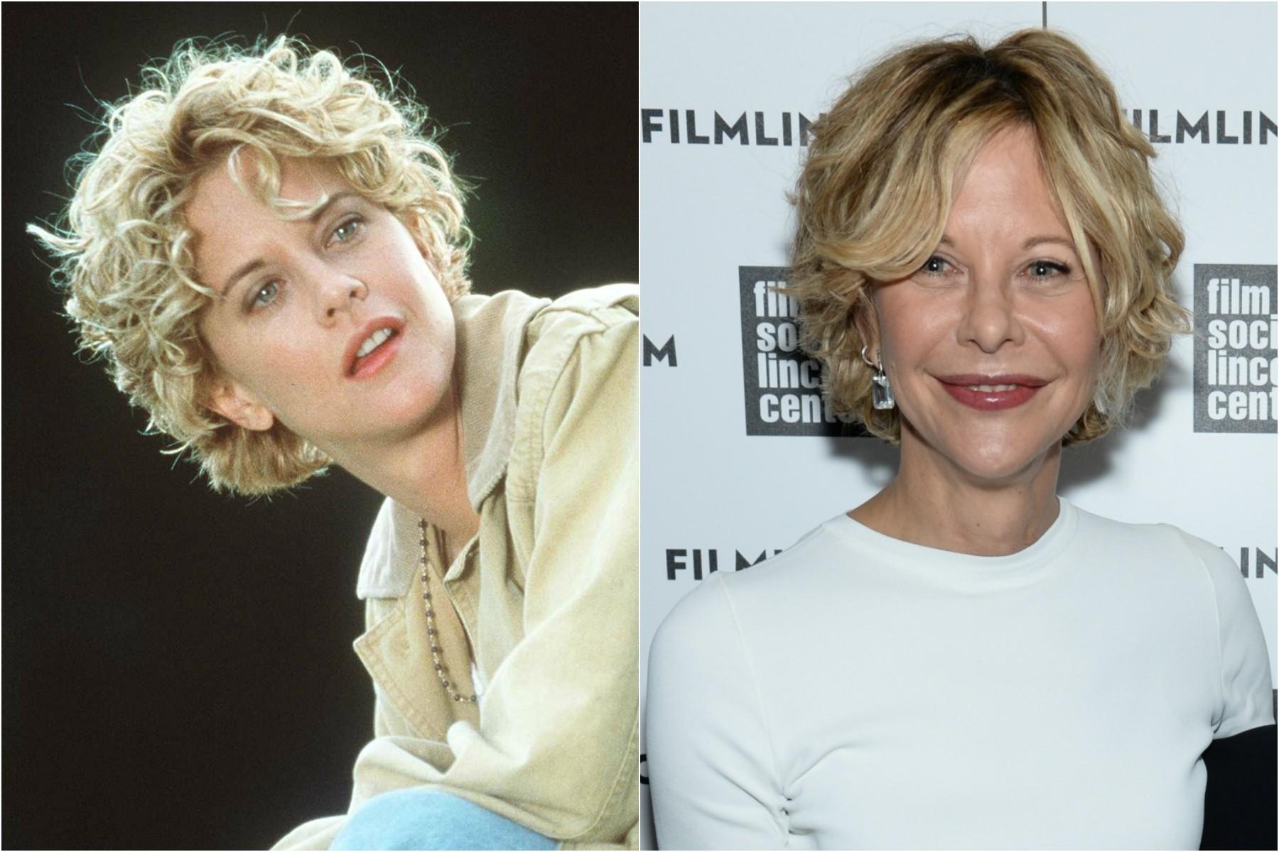 Meg Ryan em 1998 e em 2014. (Foto: Getty Images)
