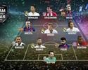 Sem brasileiros, seleção da Uefa tem Griezmann ao lado de Messi e CR7