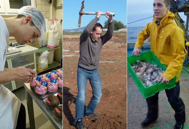 Confeiteiro em Liechtenstein, arqueólogo na Grécia, pescador em Malta; alguns dos trabalhos de Jan Lachner pela Europa (Foto: Jan Lachner/Association Euro Jobs Project)