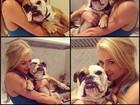 Paris Hilton faz caras e bocas com sua cachorrinha: 'I love Lola'