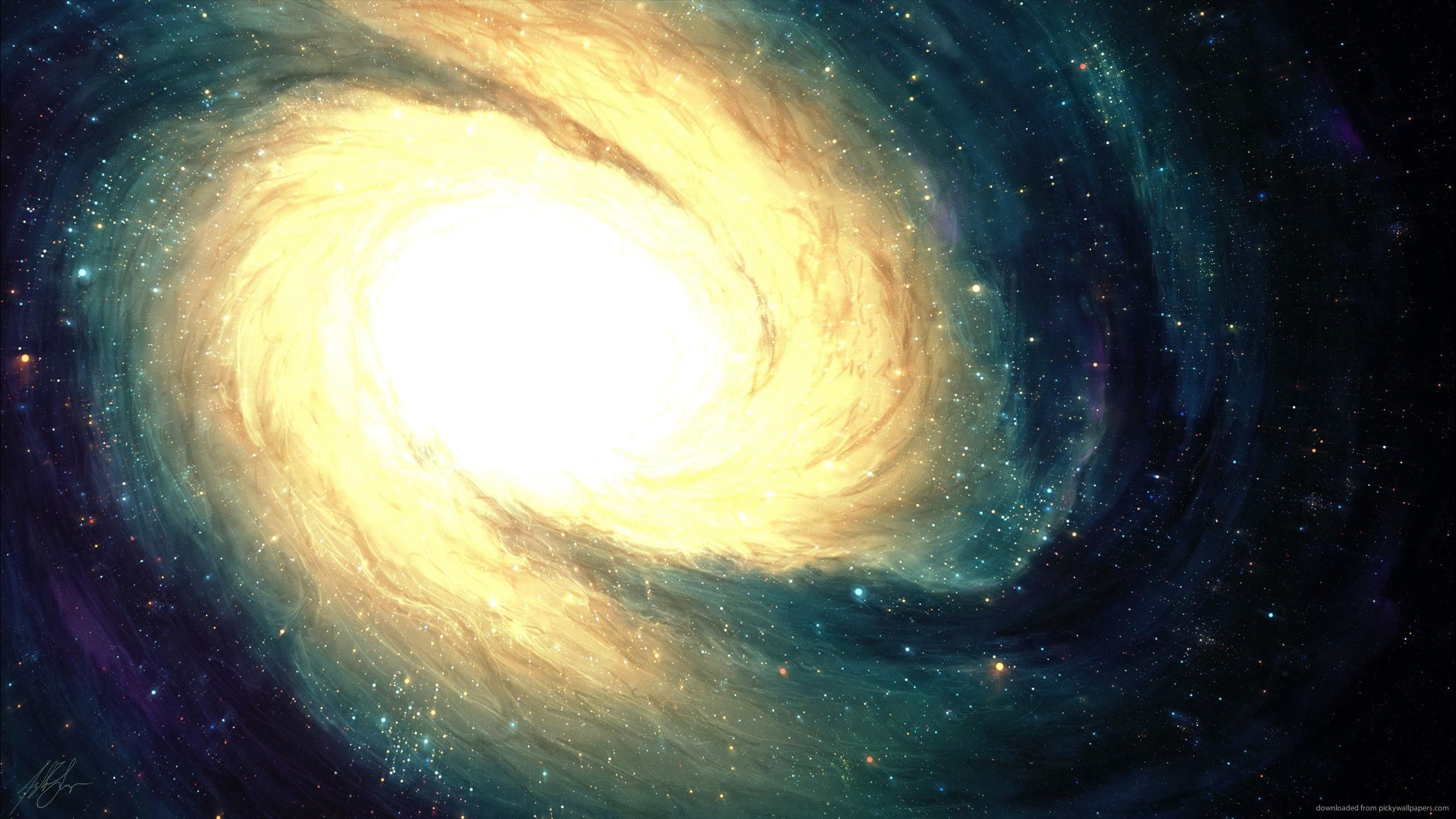 Uma simulação da galáxia mais brilhante encontrada, até então sem nome (Foto: Divulgação)